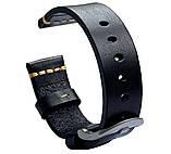 Кожаный ремешок Primolux C052B Steel buckle для часов Samsung Galaxy Watch 3 41mm (SM-R850) - Black, фото 2