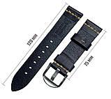 Кожаный ремешок Primolux C052B Steel buckle для часов Samsung Galaxy Watch 3 41mm (SM-R850) - Black, фото 5