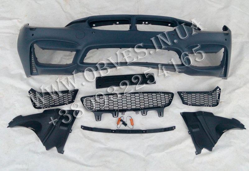 Передний бампер BMW 3-series F30 стиль BMW M3 (без противотуманок, под парктроники))