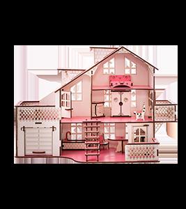 Ляльковий будинок великий 85х35х55 з гаражем і підсвічуванням (gp_ В 012)