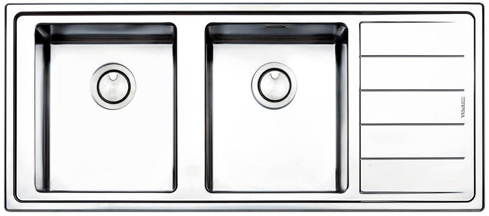 Кухонные мойки Apell Кухонная мойка из нержавеющей стали Apell Linear Plus LNP1162FRBC, полированная