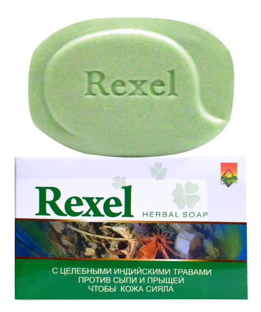 Мыло на основе индийских трав Rexel от сыпи и прыщей 100г