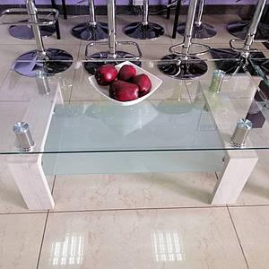 Журнальный стол C-107-2 белый дуб от Vetro Mebel