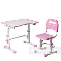 Комплект парта + стул трансформеры Vivo II Pink FUNDESK, фото 1