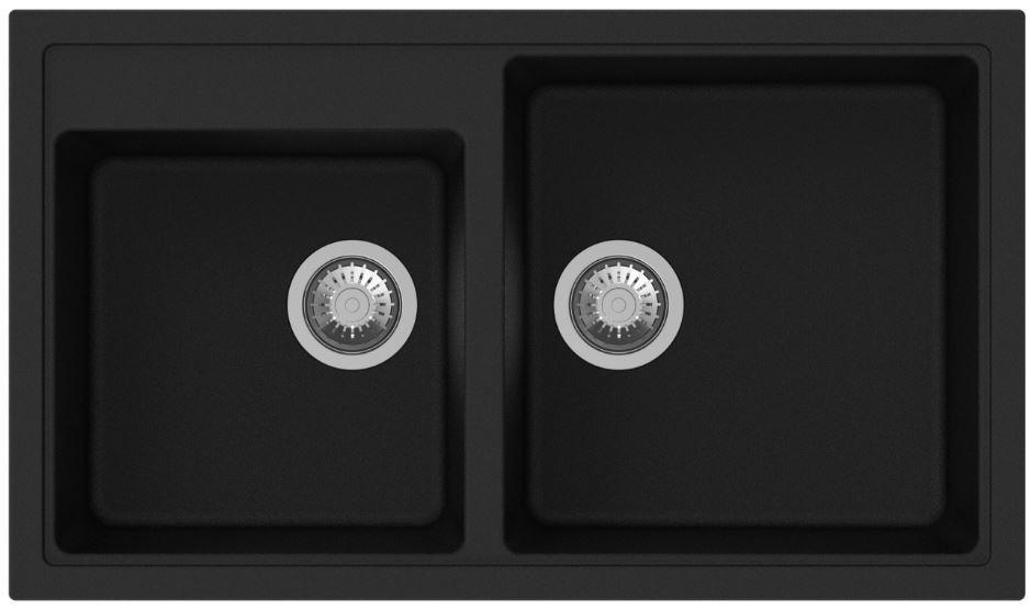 Кухонные мойки Apell Кухонная мойка Apell Pietra Plus PTPL862GB, черная