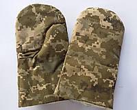 Рукавицы камуфляжные зимние с утеплителем из овчины (упаковка 5 пар)