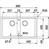 Гранітна мийка Franke Basis BFG 620 фраграніт білий 8650, фото 2