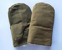 Рукавицы брезентовые зимние с утеплителем из овчины (упаковка 5 пар)