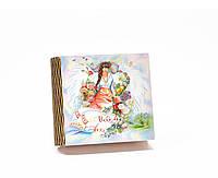 Шкатулка-книга на магните с 4 отделениями Весна