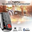 Bluetooth/AUX/SD/USB 2xUSB 3.4 A FM-трансмиттер Promate SmarTune-3 Black, фото 9
