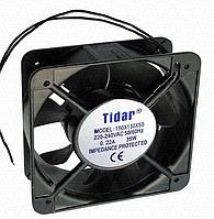 Вентилятор чорний алюмінієвий 150х150х50 (220V)