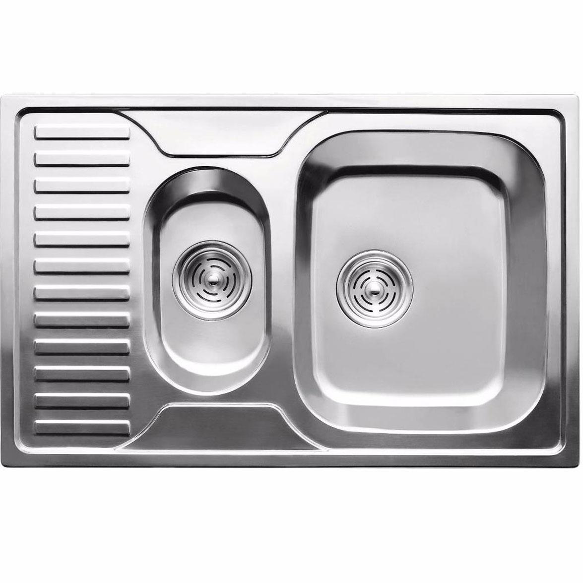 Кухонные мойки ULA Кухонная мойка из нержавеющей стали ULA HB 7301 ZS Decor