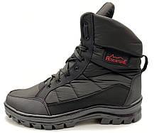 Ботинки берцы зимние мужские черного цвета, фото 2