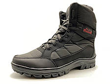 Ботинки берцы зимние мужские черного цвета, фото 3