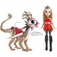 Эппл Уайт и дракон Брэбёрн Игры драконов - Apple White Doll & Braebyrn Dragon Games Ever After High