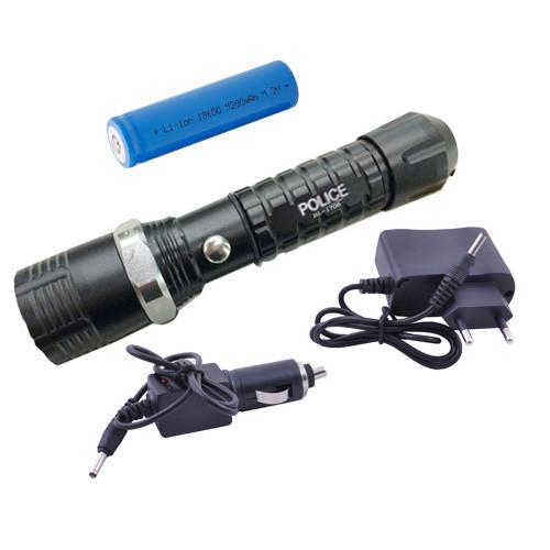 Тактический Фонарик POLICE 12000W с линзой BL-1706 фонарь, блистер