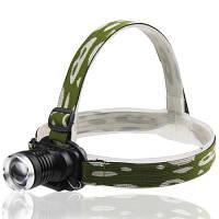 Налобный тактический фонарик Police BL-6809 12000W, фото 1