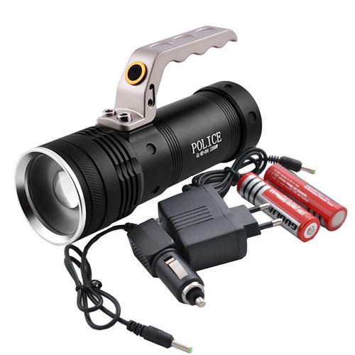 Фонарь  переносной Police GL-KD-004-12000W T6, 2ак. 18650 zoom