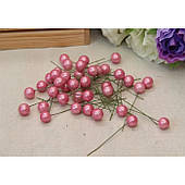 Ягодка на палочке ГЛЯНЦЕВАЯ  , розовая  400 шт