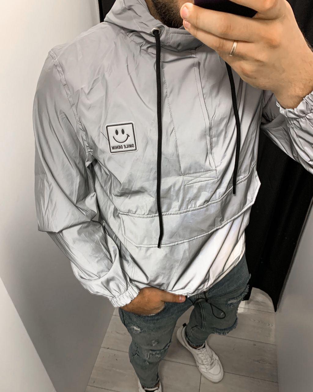 Куртка Анорак рефлектив (серая)