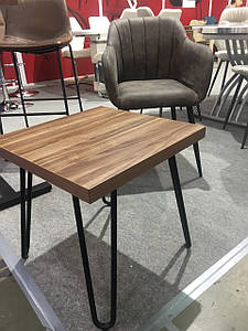 Журнальный стол С-150-2 орех от Vetro Mebel, 50*50*50(H)