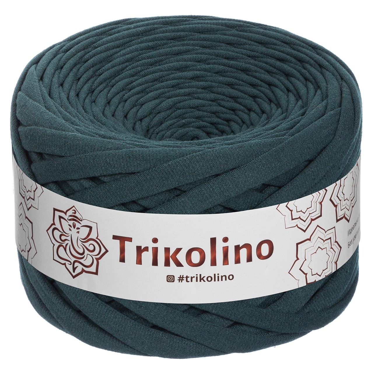 """Пряжа трикотажна 7-9 мм """"Trikolino"""" 50м. Темно-зелений"""