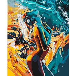 Картини за номерами - Пристрасть жінки   Ідейка 40х50 див.   КН4528