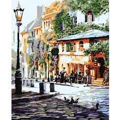 Уютное кафе - Картины по номерам   Идейка 40х50 см.   КН2150