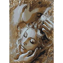 Картини за номерами - Золоті обьятья | Ідейка™ 35х50 див. | КН4563