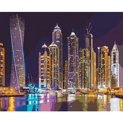 Картины по номерам - Ночной мегаполис   Идейка™ 40х50 см.   КН2184