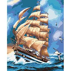 Картины по номерам - Во время грозы | Идейка™ 40х50 см. | КН2712