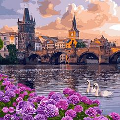 Чарующий город - Картины по номерам   Идейка™ 40х40 см.   КН3580