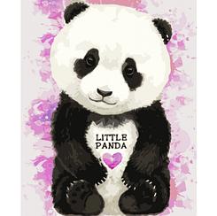 Маленькая пандочка - Картины по номерам   Идейка™ 30х40 см.   КН4023