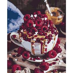 Малиновое утро - Картины по номерам | Идейка™ 40х50 см. | КН5024