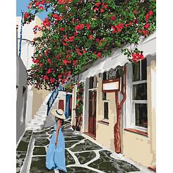 Уютными улочками - Картины по номерам   Идейка™ 40х50 см.   КН2263