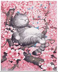 Кот в цветущем саду - Картины по номерам   Rainbow Art™ 40х50 см.   GX35033