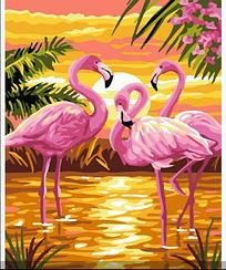 Фламинго на закате - Картины по номерам   Rainbow Art™ 40х50 см.   GX24159