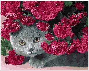 Картины по номерам - Британец в цветах   Rainbow Art™ 40х50 см.   GX28923