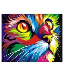 Радужный кот - Картины по номерам   Rainbow Art™ 40х50 см.   GX4228