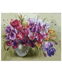 Картины по номерам - Ваза с ирисами | Rainbow Art™ 40х50 см. | GX9363