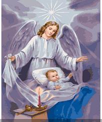 Картины по номерам - Ангел-хранитель | Rainbow Art™ 40х50 см. | GX4861