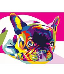 Радужный французский бульдог - Картины по номерам   Rainbow Art™ 40х50 см.   GX26200