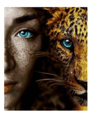 Девушка и леопард - Картины по номерам   Rainbow Art™ 40х50 см.   GX28049