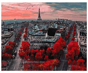 Картины по номерам - Алые краски Парижа   Rainbow Art™ 40х50 см.   GX4887