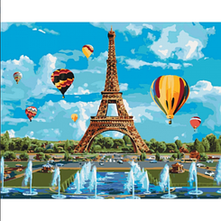Картины по номерам - Город любви   Идейка™ 40х50 см.   КН2179