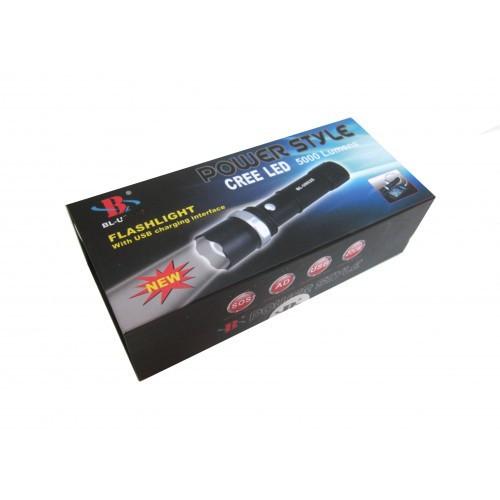 Фонарик с USB Power Bank 30000W POLICE BL-T8625