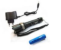 Тактический Фонарик POLICE 8626 mini 009C 18000W с линзой  мини фонарь аккум. зарядное, фото 1