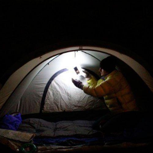 Фонарик на солнечной батарее для туризма и дач, фото 1