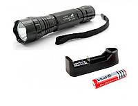 Фонарь ультрафиолетовый, 3Вт, 2 батареи, зарядное
