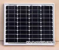 Солнечная панель монокристаллическая 30 Вт 12В
